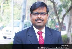 Ajay Yadav, Head It (North), Arshiya Rail Infrastructure